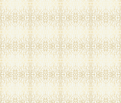 Geometric Angles Gold Cream Ivory Wallpaper fabric by jenlats on Spoonflower - custom fabric