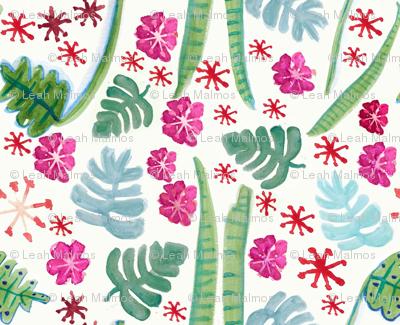 Tropical Watercolor Flora