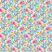 Ditsy Flowers Floral Tiny Small