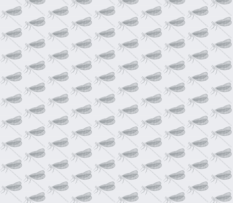 large gray dragonfly on creamy white fabric by whirlykidde on Spoonflower - custom fabric