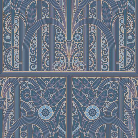 Wacker Tower Fountains 1e fabric by muhlenkott on Spoonflower - custom fabric