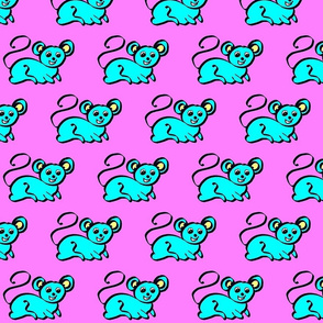 5 - Pen and Ink - Mouse_-_Pink & Blue