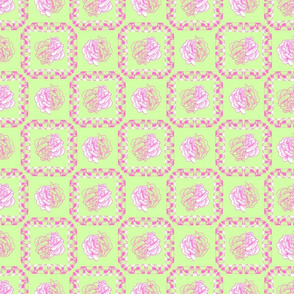 rose & spindle - pistachio/pink