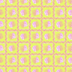 rose & spindle - lemon/pink