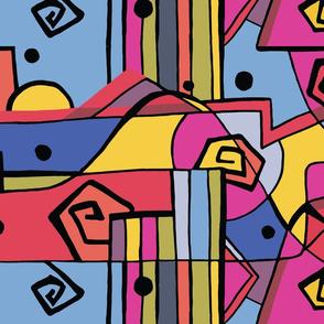 Hand-drawn Graphic Colorblock