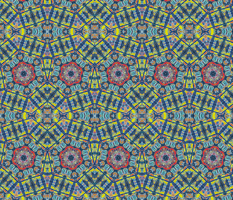 """50""""s Lamps #2 fabric by ciswee on Spoonflower - custom fabric"""