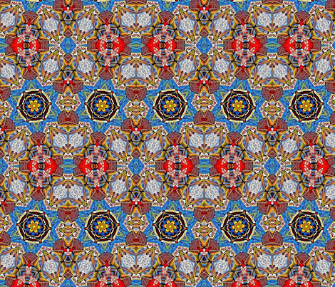 Star of David Flower  fabric by ciswee on Spoonflower - custom fabric