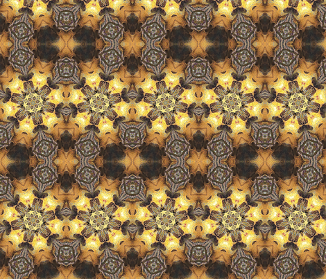 Klimt Kaleidoscope  fabric by ciswee on Spoonflower - custom fabric