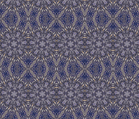Navy Snowflake fabric by ciswee on Spoonflower - custom fabric