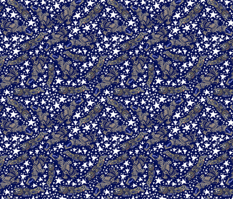 Until i find Blue Serenity fabric by sharksvspenguins on Spoonflower - custom fabric