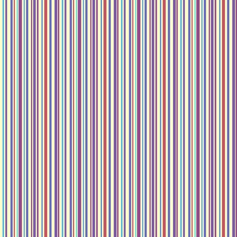 Lena: Small Subdued Stripe fabric by tallulahdahling on Spoonflower - custom fabric