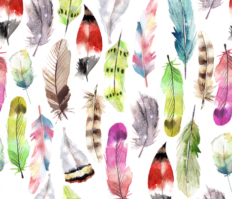feather_pattern fabric by holaholga on Spoonflower - custom fabric