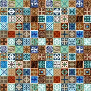 Creative tile looking pattern