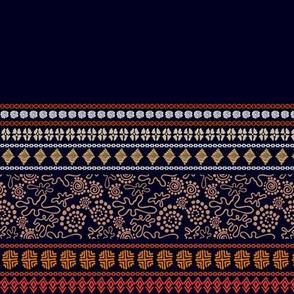 Bohemian ethnic pattern