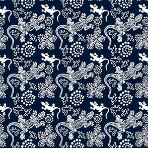 Aboriginal pattern. Lizards.