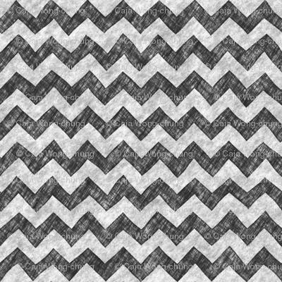 Grunge Pencil Chevron Zigzag Black&White Monochrome