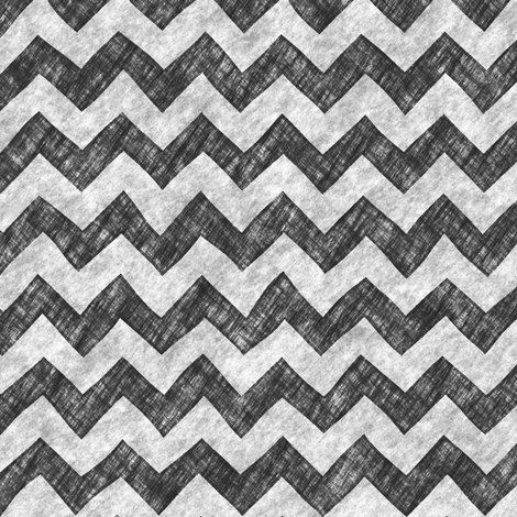 Grunge Pencil Chevron Zigzag Black&White Monochrome fabric by caja_design on Spoonflower - custom fabric