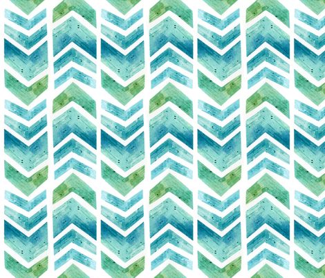 SpoonChallenge Geometric Watercolour fabric by hazel_fisher_creations on Spoonflower - custom fabric