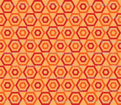 Orange Slice Hexies