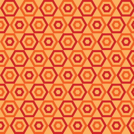 Orange Slice Hexies fabric by anniecdesigns on Spoonflower - custom fabric