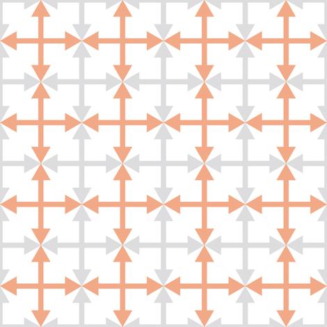 Peachy Arrows  fabric by anniecdesigns on Spoonflower - custom fabric