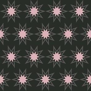 Pink & Gray Bursts