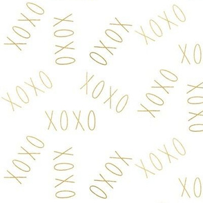 XOXO Hugs and Kisses in Gold