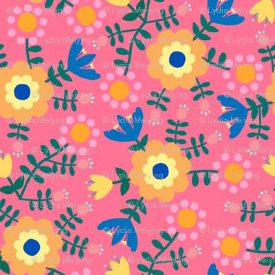 Folk Floral (pink)
