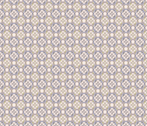 Celtic Inspired Yellow Periwinkle Brown fabric by anderson_designs on Spoonflower - custom fabric