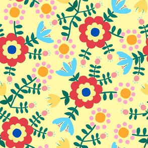 Folk Floral (yellow)