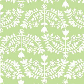 Folk Floral Light Green