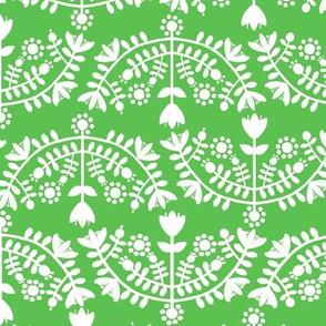 Folk Floral Green