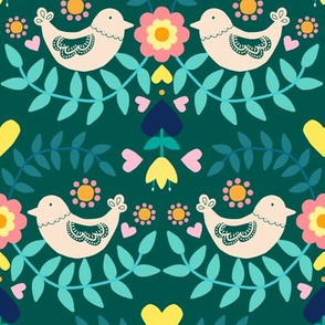 Folky Pattern Green