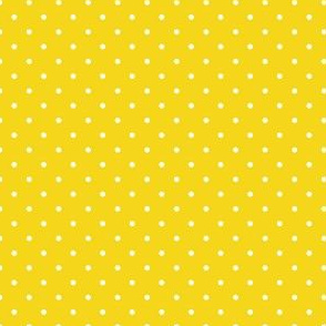 Polka Dots White & Bright Yellow