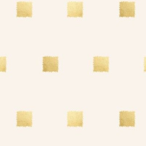 Gold Squares on Cream