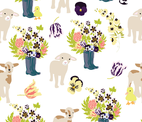 Spring on the Farm fabric by vieiragirl on Spoonflower - custom fabric
