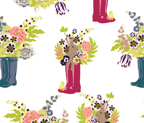 rainboots fabric by vieiragirl on Spoonflower - custom fabric