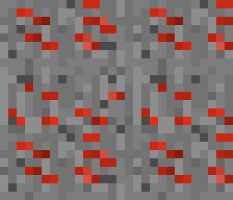 Pixel Red Stone fabric by wilsongraphics on Spoonflower - custom fabric
