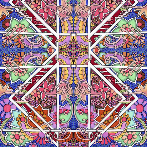 Party in the Paisley Patch fabric by edsel2084 on Spoonflower - custom fabric