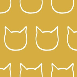 cat outline - mustard