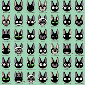 Anime cats - Green