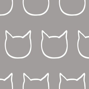 cat outline - dark gray