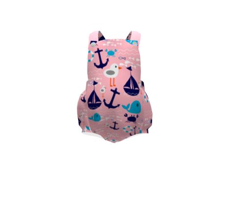 boat at sea pink