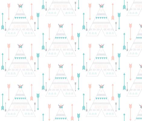 TeePee Adventure  fabric by graceandcruzdesigns on Spoonflower - custom fabric