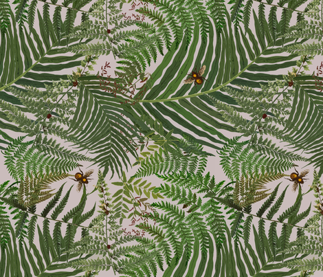 """Fernomenal"" Ferns fabric by linda_facci on Spoonflower - custom fabric"