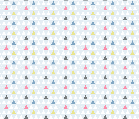 Geometric Triangles fabric by sketchandpixel on Spoonflower - custom fabric