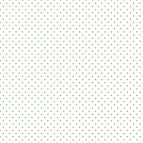 Green Polka Dots - White