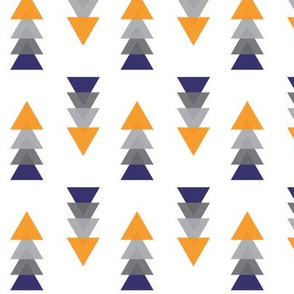 Triangle Tower Navy Grey and Orange