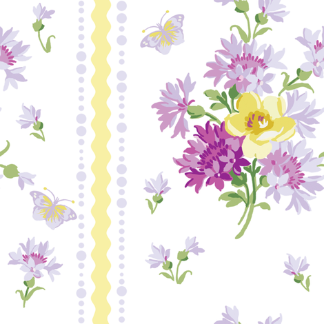 Elvie in clover fabric by lilyoake on Spoonflower - custom fabric