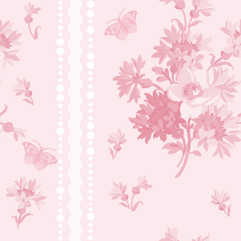 Elvie in peony pink fabric by lilyoake on Spoonflower - custom fabric